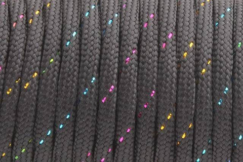 550 Paracord Mil Spec Type III 7 Strand Paracord Black Color 100feet