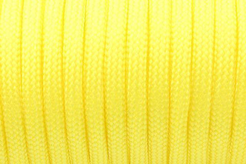 550 Paracord Mil Spec Type III 7 Strand Paracord Yellow 100feet