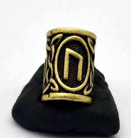 Image of Antique Bronze Norse Viking Rune Beads Beads 1