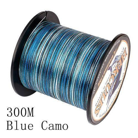Camo 8 Stranded Braided PE Fishing Line | Super Strong Fishing Lines 300M Blue Camo .12 - 10 lbs