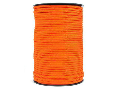 100M 550 Military Standard 9 Core Paracord Paracord Safety Orange 100 M