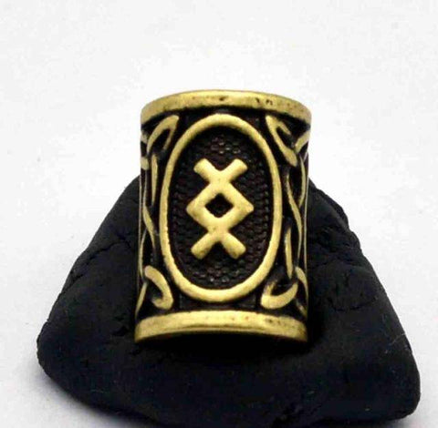 Antique Bronze Norse Viking Rune Beads