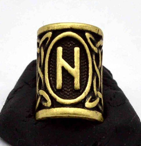 Image of Antique Bronze Norse Viking Rune Beads Beads 4