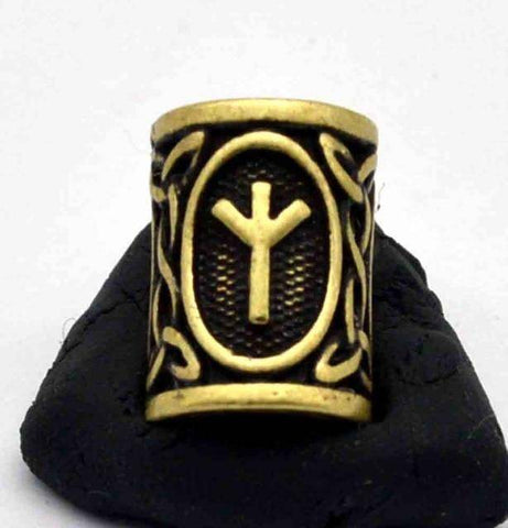 Image of Antique Bronze Norse Viking Rune Beads Beads 5