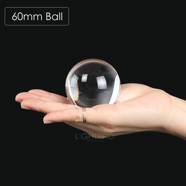 Premium K9 Crystal Lens Ball. Take Your Viewers to a New World With Your Art Photo Studio Accessories 60mm ball