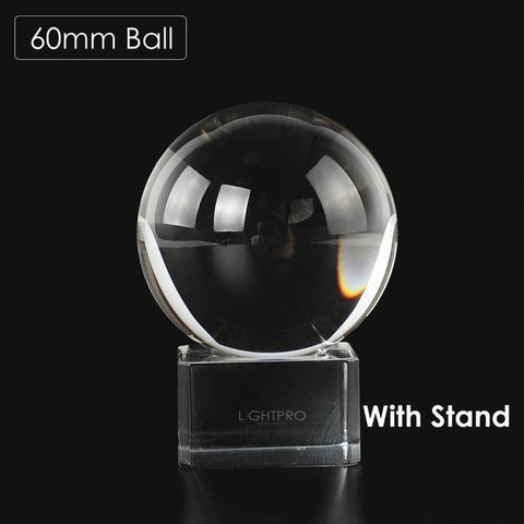 Premium K9 Crystal Lens Ball. Take Your Viewers to a New World With Your Art Photo Studio Accessories 60mm ball w stand