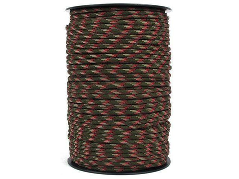 100M 550 Military Standard 9 Core Paracord Paracord Brown Multi 100 M