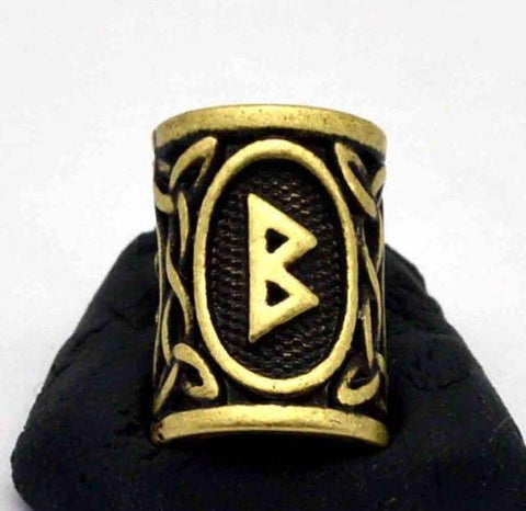 Image of Antique Bronze Norse Viking Rune Beads Beads 6