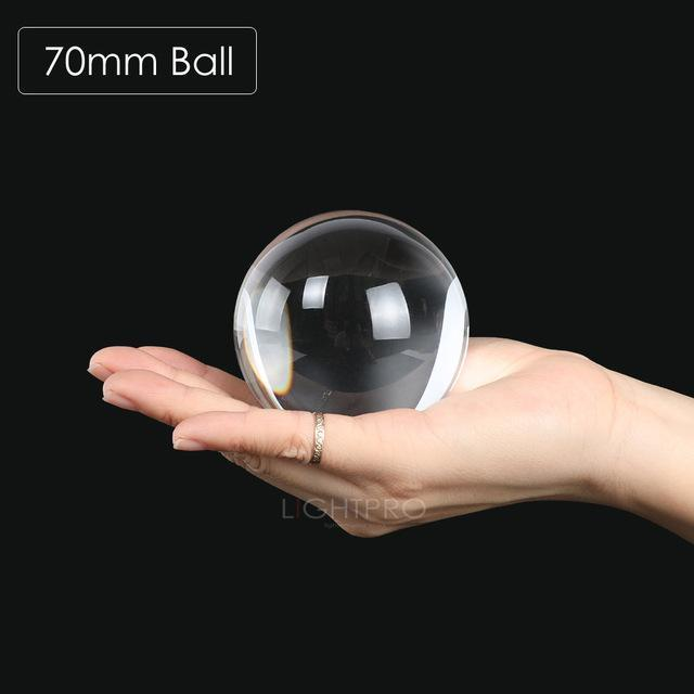 Premium K9 Crystal Lens Ball. Take Your Viewers to a New World With Your Art Photo Studio Accessories 70mm ball