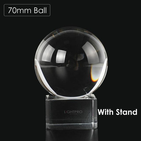 Image of Premium K9 Crystal Lens Ball. Take Your Viewers to a New World With Your Art Photo Studio Accessories 70mm ball w stand