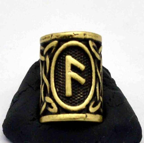 Image of Antique Bronze Norse Viking Rune Beads Beads 7