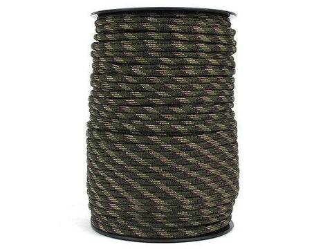 100M 550 Military Standard 9 Core Paracord Paracord Green Multi 100 M
