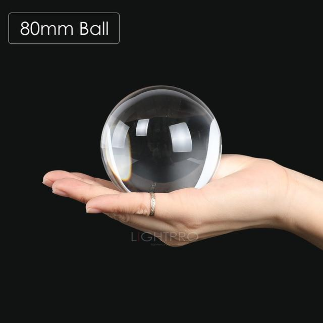 Premium K9 Crystal Lens Ball. Take Your Viewers to a New World With Your Art Photo Studio Accessories 80mm ball