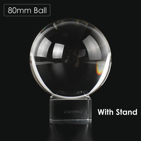 Image of Premium K9 Crystal Lens Ball. Take Your Viewers to a New World With Your Art Photo Studio Accessories 80mm ball w stand