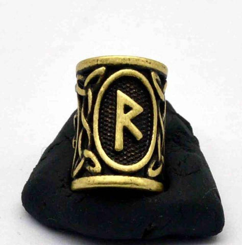 Image of Antique Bronze Norse Viking Rune Beads Beads 8
