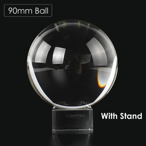 Premium K9 Crystal Lens Ball. Take Your Viewers to a New World With Your Art Photo Studio Accessories 90mm ball w stand