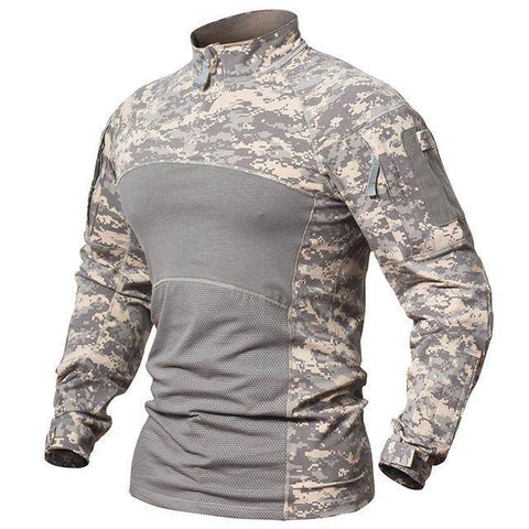 Image of Men's Long Sleeve Field Shirt T-Shirts ACU S