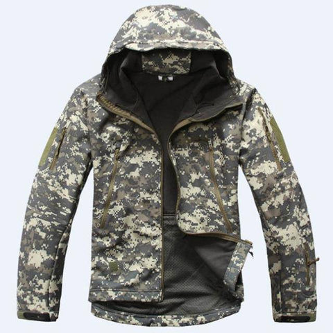 Image of Outdoor Softshell Jacket and Pants Hiking Jackets ACU S