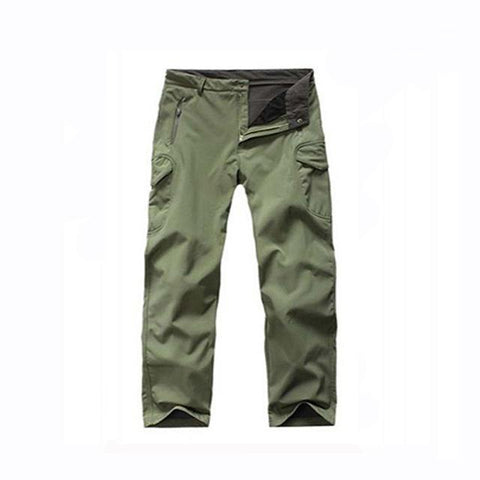 Image of Outdoor Softshell Jacket and Pants Hiking Jackets Army Green20 S