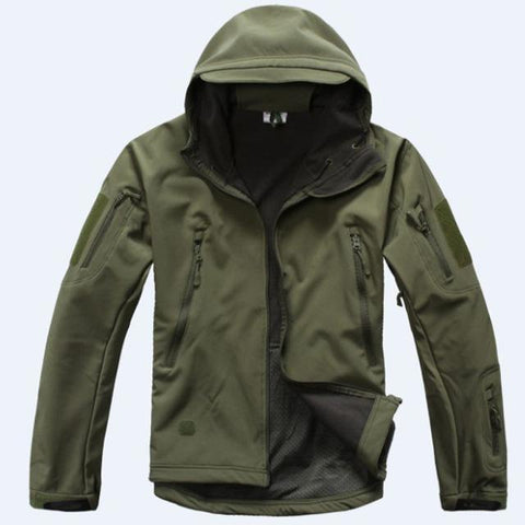 Image of Outdoor Softshell Jacket and Pants Hiking Jackets Army Green S