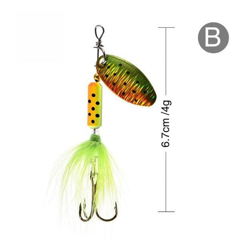Rooster Tail Trophy Spinners Fishing Lures B