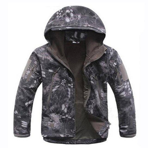 Image of Outdoor Softshell Jacket and Pants Hiking Jackets Black Python S