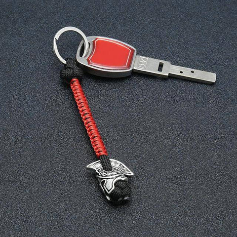 Spartan Lanyard Version , Are You a Warrior? Key Chains Black Red