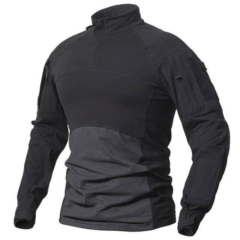 Image of Men's Long Sleeve Field Shirt T-Shirts Black S