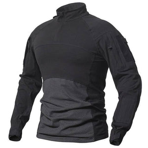 Men's Long Sleeve Field Shirt T-Shirts Black S