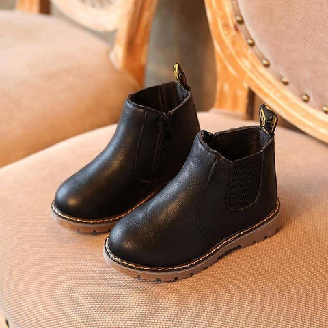 Image of Kid's Premium Eco Leather Boots Boots Black 1