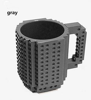 Image of Build-On Brick Mug 350 ml Mugs Dark Gray