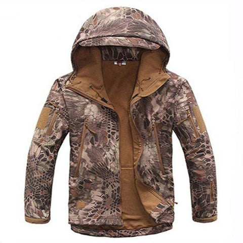 Image of Outdoor Softshell Jacket and Pants Hiking Jackets Desert Python S