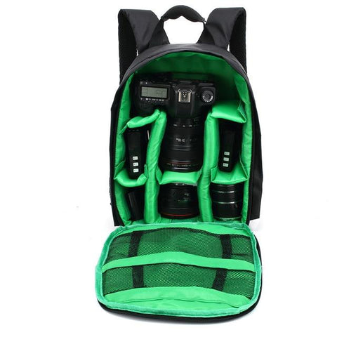 Image of Waterproof Digital DSLR Camera Bag Camera/Video Bags Green Bag