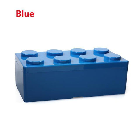 Image of Creative Building Block Storage Box Storage Boxes & Bins M Blue
