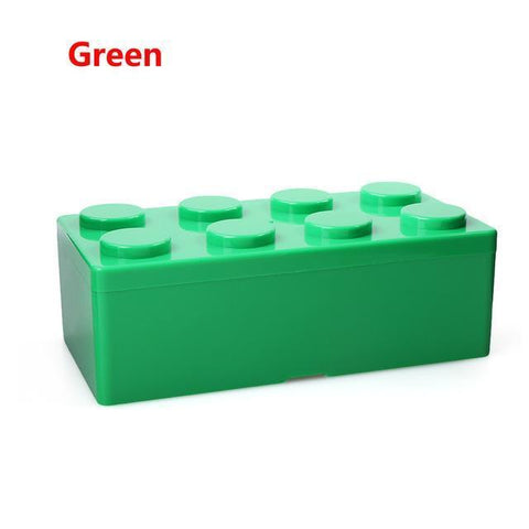 Image of Creative Building Block Storage Box Storage Boxes & Bins M Green