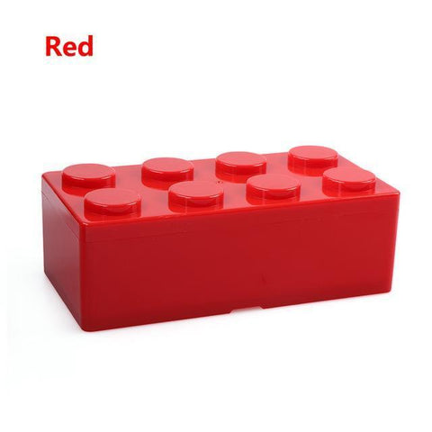 Image of Creative Building Block Storage Box Storage Boxes & Bins M Red