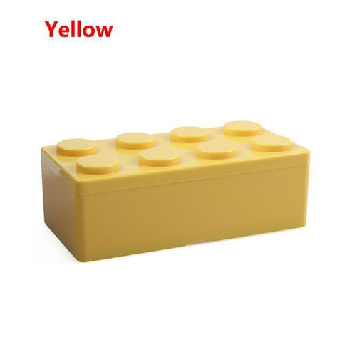 Image of Creative Building Block Storage Box Storage Boxes & Bins M Yellow
