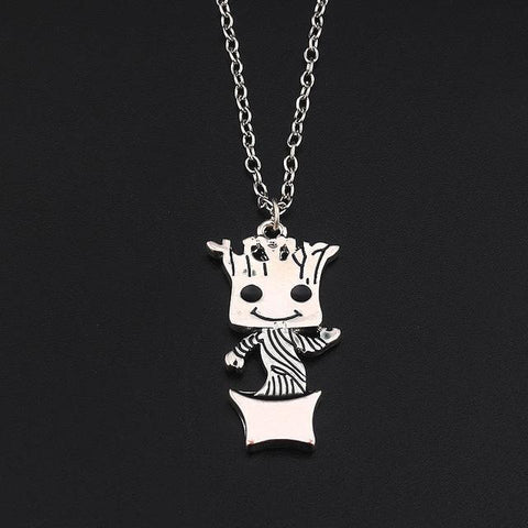 Image of Cute Groot Collection Stud Earrings Necklace One