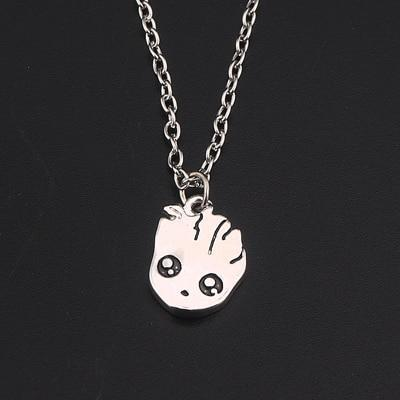 Image of Cute Groot Collection Stud Earrings Necklace 3