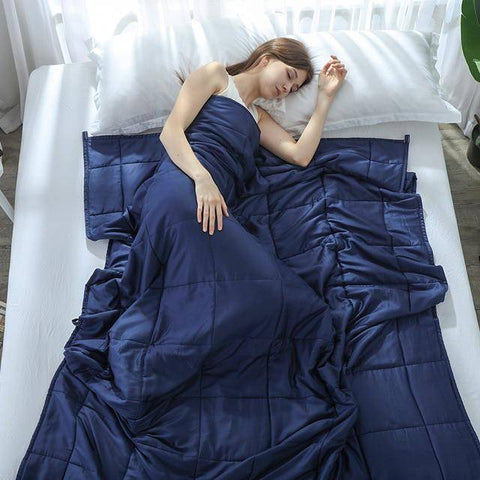 Weighted Blanket for Decompression Blankets Navy 90x122cm 2.3kgs