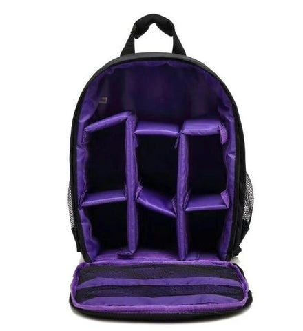 Image of Waterproof Digital DSLR Camera Bag Camera/Video Bags Purple Bag