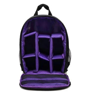 Waterproof Digital DSLR Camera Bag Camera/Video Bags Purple Bag