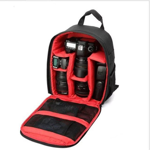 Image of Waterproof Digital DSLR Camera Bag Camera/Video Bags Red Bag