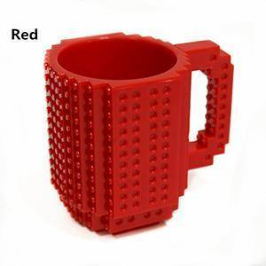 Image of Build-On Brick Mug 350 ml Mugs Red