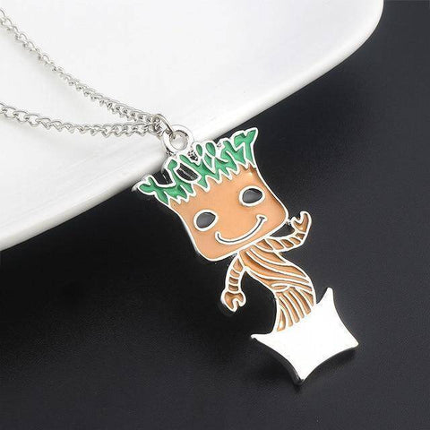 Image of Cute Groot Collection Stud Earrings Colored Necklace