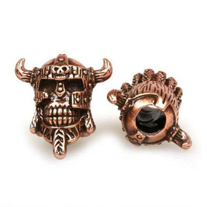 Antique Viking Skull Bead Beads Rose