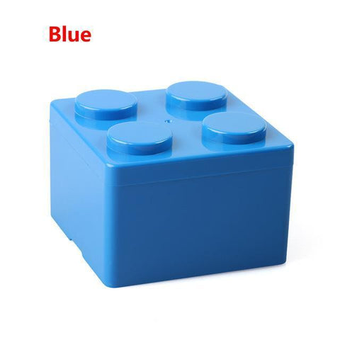 Image of Creative Building Block Storage Box Storage Boxes & Bins S Blue