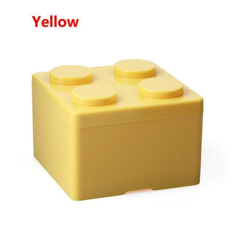Image of Creative Building Block Storage Box Storage Boxes & Bins S Yellow