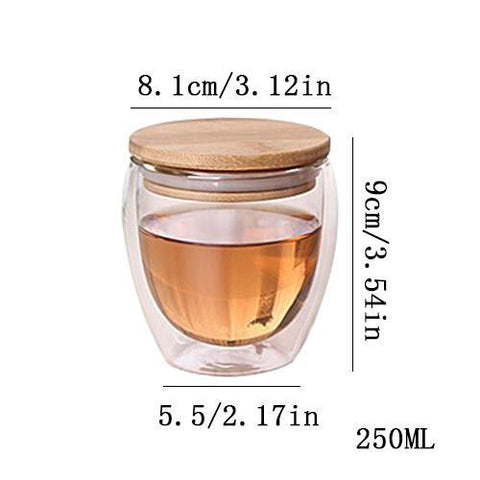 Image of Non Spill Insulated Glass Tumbler | Keep Your Drinks Ready Mugs S