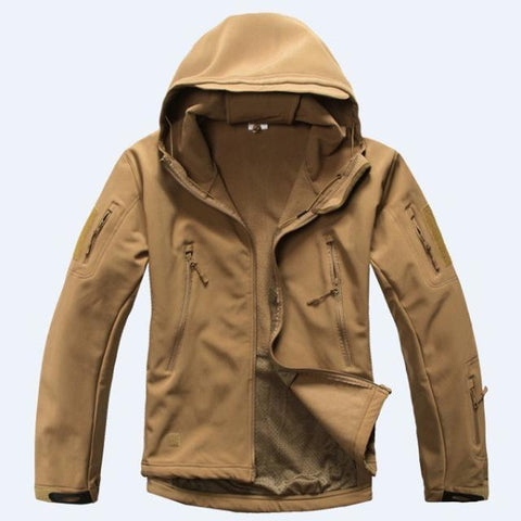 Image of Outdoor Softshell Jacket and Pants Hiking Jackets Sand S